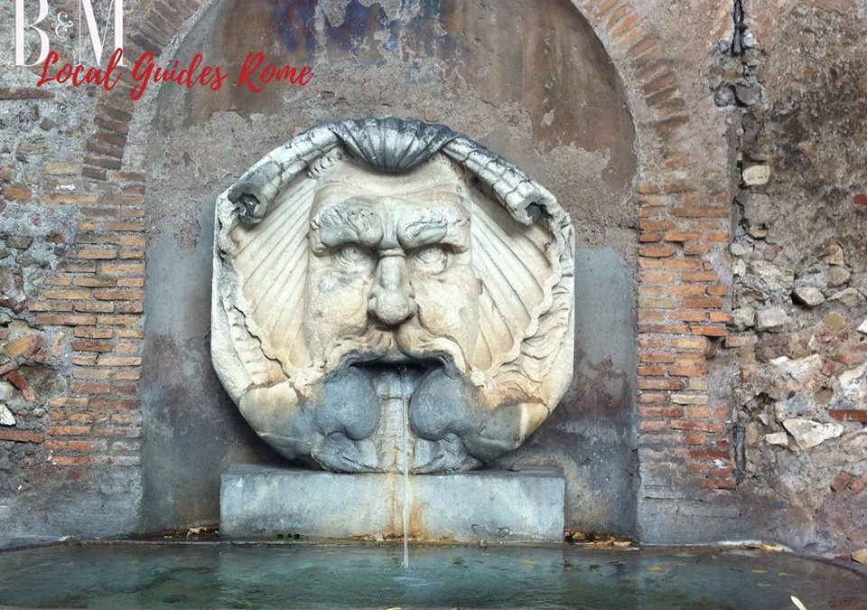 The history of the Mascherone fountain on the Aventine Hill